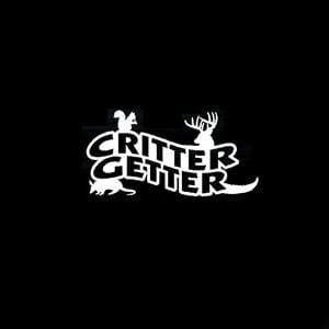 Critter Getter Hunting Window Decal