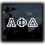 Custom Greek Letters Decal Bold