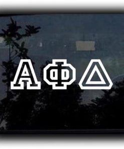 Custom Greek Letters Decal Bold