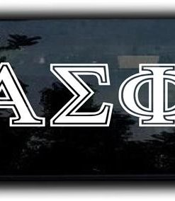 Custom Greek Letters Decal Outlined
