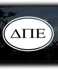 Custom Greek Letters Decal Oval