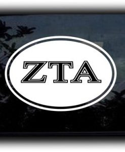 Custom Greek Letters Decal Oval II