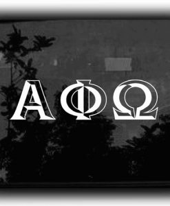 Custom Greek Letters Decal 3D