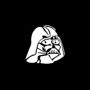 Darth Vader Car Window Decal