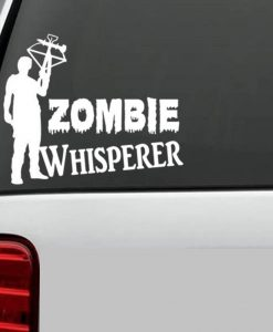 Daryl Dixon Zombie Whisperer Decal - //customstickershop.us/product-category/stickers-for-cars/