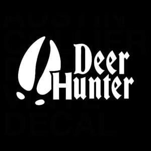 Deer Hunter Hoof Window Decal