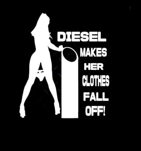 Diesel makes her clothes fall off decal - https://customstickershop.us/product-category/stickers-for-cars/