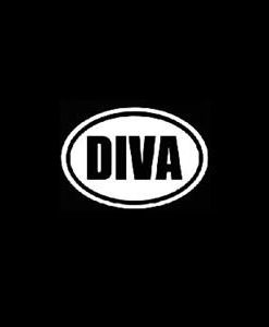 Diva Oval Car Window Decal