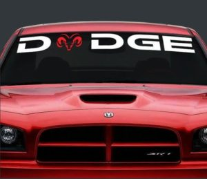 Dodge Logo Windshield Decal - https://customstickershop.us/product-category/windshield-decals/