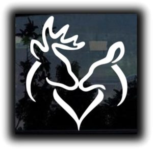 Buck and Doe Heart Decal Sticker