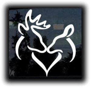 Buck and Doe Heart Decal Sticker
