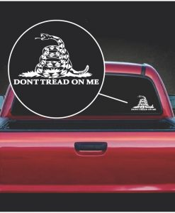 dont tread on me gadsden flag snake serpent window decal sticker