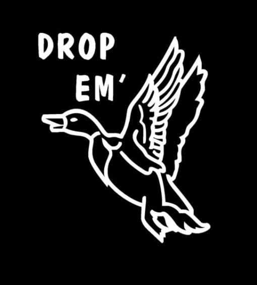 Drop Em Duck Hunter Decal Sticker