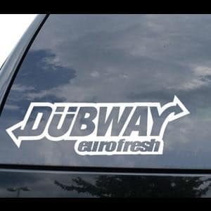 Dubway Eurofresh Window Decal - https://customstickershop.us/product-category/jdm-stickers/