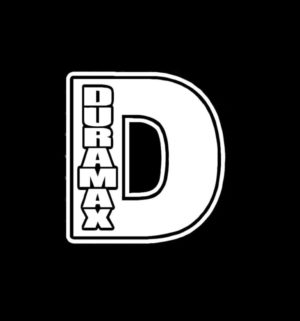 duramax d Diesel truck decal sticker