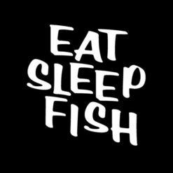 Eat sleep Fish Window Decal