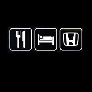 Eat Sleep Honda JDM Stickers