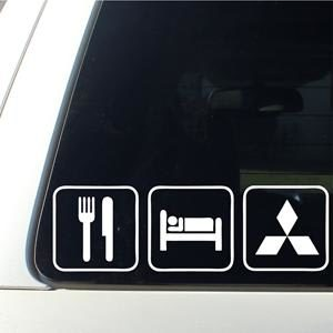 Eat Sleep Mitsubishi JDM Stickers