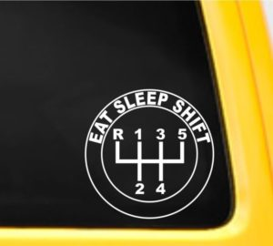 Eat Sleep Shift Decal Sticker - https://customstickershop.us/product-category/stickers-for-cars/