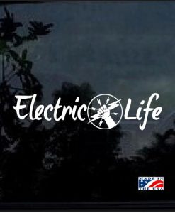 electric life lineman window decal sticker