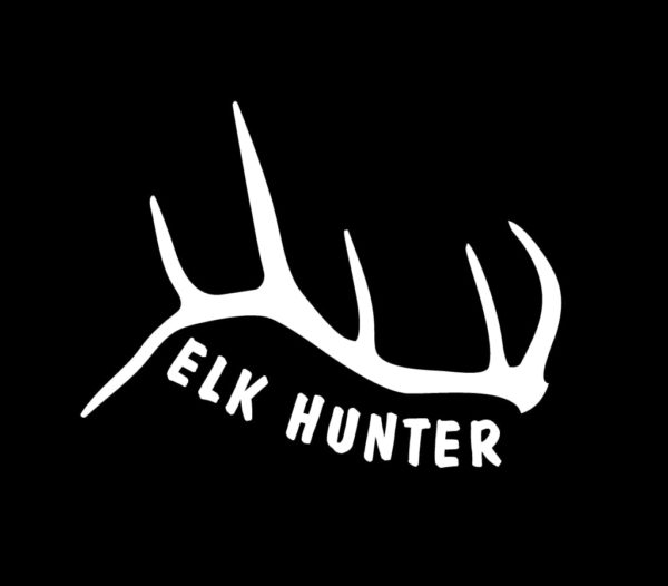 Elk hunter antler decal sticker