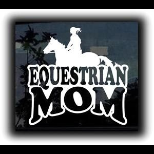 Equestrian Mom Girl Window Decal