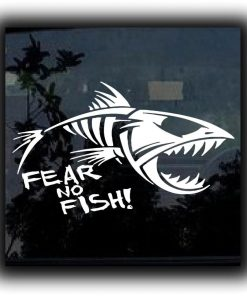 Fear No Fish Truck Decal Sticker