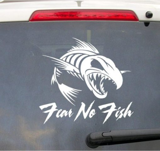 Fear No Fish Truck Decal Sticker II