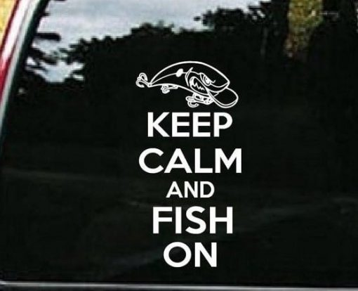 Keep Calm and Fish On Decal