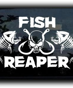 Fish Reaper Fish Hooks Decal Sticker
