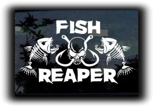 Fish Reaper Fish Hooks Decal Sticker