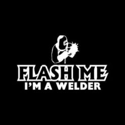 Flash Me Welding Stickers