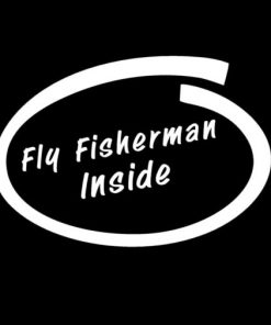Fly Fisherman Inside Fishing Decal
