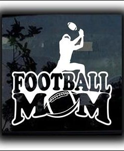 Football Mom Window Decal a2