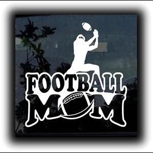 Football Mom Window Decal a2