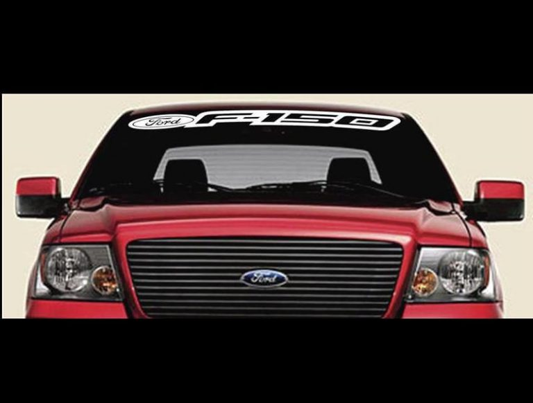 Vinyl Windshield Banner Decal Stickers Fits Ford F-150