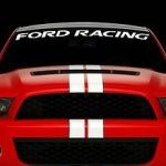Ford Racing Windshield Decal - https://customstickershop.us/product-category/windshield-decals/