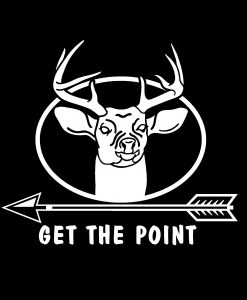 Get the point Bow Hunter Decal