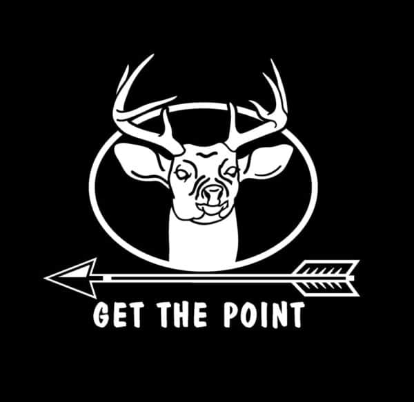 get the point bow hunting vinyl decal stickers custom official bow life bowhunting decals archery decals bow