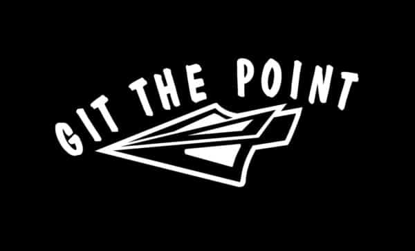 git the point bow hunting vinyl decal stickers custom mountain mulie mule deer hunting window decal