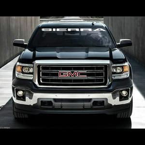 Vinyl Windshield Banner Decal Stickers Fits GMC Sierra - Truck windshield decals