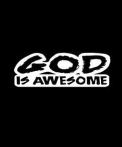 God Is Awesome Car Window Decal