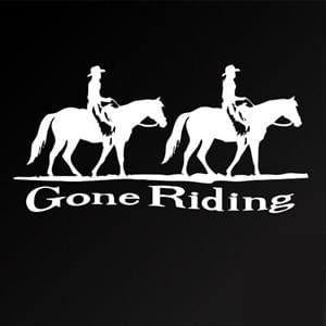Gone Riding Horse Window Decal
