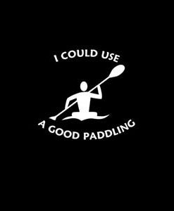 Good Paddling kayak Window Decal