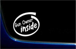 Gun Owner Inside Decal Sticker