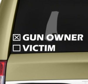 Gun Owner or Victim Decal Sticker - https://customstickershop.us/product-category/stickers-for-cars/
