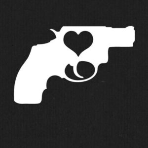 Love Guns Funny Decal Sticker