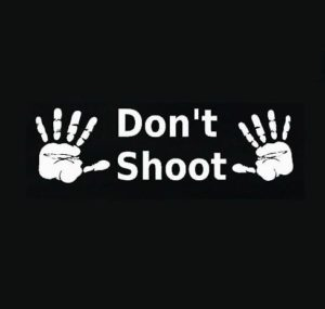 Hands up Dont Shoot Window Decal - https://customstickershop.us/product-category/stickers-for-cars/