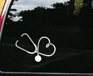 Heart Stethoscope Nurse Decals