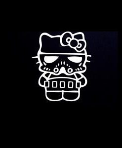 Storm Trooper Hello Kitty Decal